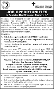 peshawar public school college for girls peshawar jobs jhang jobs medical officer job peshawar red crescent society job