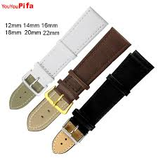 <b>1PCS</b> 14mm 16mm 18mm 20mm 22mm Smooth <b>Leather Watch</b> ...