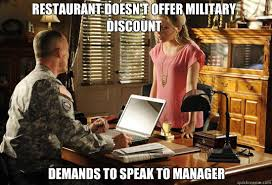 Self-entitled military wife memes | quickmeme via Relatably.com