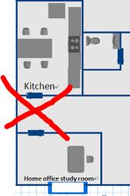 home office door face the door of toilet or kitchen bedroom face kitchen bad feng shui
