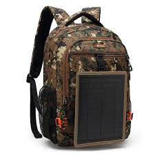 DTBG <b>Solar</b> Backpack Nylon Travel Rucksack with <b>Removable</b> 5 ...