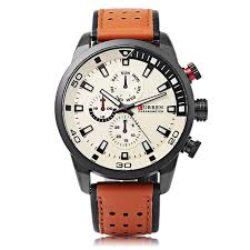 <b>CURREN 8250</b> Luxury Leather Watch Band <b>Casual</b> Men Watch