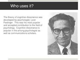 Image result for a theory of cognitive dissonance leon festinger