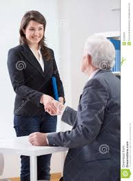 the end of successful job interview stock photo image 52235692 the end of successful job interview