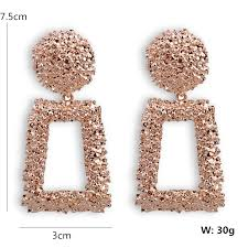 New <b>Fashion</b> Jewelry Geometric <b>Trapezoid</b> Drop Earrings For ...