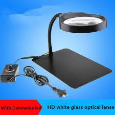 2019 Germany <b>PDOK 8X</b> Desktop Magnifier With LED HD Lens ...