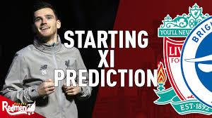 Liverpool v Brighton | Starting XI Prediction LIVE - The Redmen TV