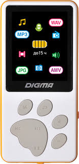 <b>MP3 плеер Digma S4</b> 8Gb, белый — купить в интернет-магазине ...