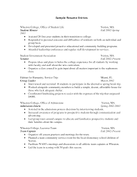 resume template for college freshmen college resume  example college student