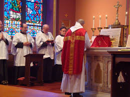 Image result for image of priest Latin Mass