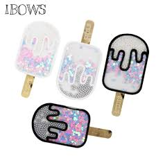 IBOWS Acrylic Liquid <b>Quicksand</b> Pacthes Ice Cream Sequins Patch ...