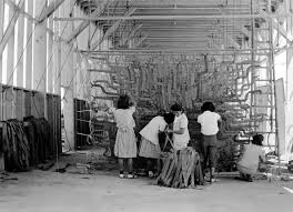 images of internment forward roosevelt people incarcerated in the camps worked at a variety of jobs these women at the
