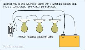 simple home electrical wiring diagrams sodzee com wiring a series circuit of lights bad