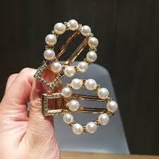 <b>Korean</b> Pearl <b>hair clips</b> side hairpins Jewelry Accessories ...