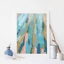 Abstract <b>Ocean Scene</b> Underwater <b>Sea</b> Life <b>Wall Art</b> Print or Canvas ...