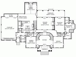 Eplans NeoClassical House Plan   Pillared Portico   Square    Level
