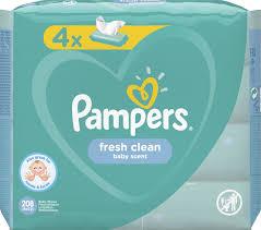 <b>Влажные салфетки Pampers</b> Wipes Fresh Clean, детские, 208 шт ...