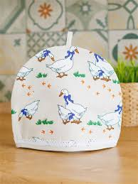 "Колпак-<b>грелка на чайник</b> ""Лен Серые Гуси"" Yellow Rabbit ..."