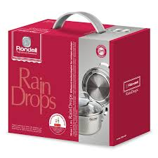 <b>Кастрюля</b> с/кр 18 см 1,9 <b>л</b> RainDrops Rondell RDS-827