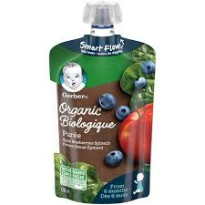 GERBER <b>Organic</b> Purée, Apple Blueberries Spinach, <b>Baby</b> Food ...