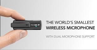 PicoGear | <b>PicoMic</b> - The Smallest <b>Wireless Microphone</b> & Dual-<b>mic</b> ...