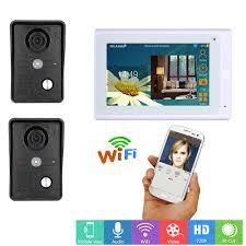 <b>7inch Wired / Wireless Wifi</b> IP Video Door Phone Doorbell Intercom ...