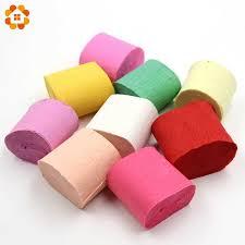 <b>10M</b>/<b>Roll Crepe Paper Streamers</b> DIY Paper Bouquet Curling For ...