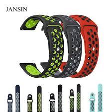 JANSIN 22 мм 20 мм <b>Универсальный силиконовый ремешок для</b> ...