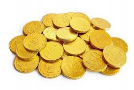 Znalezione obrazy dla zapytania czekoladowe monety