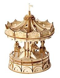 Robotime Wood Craft <b>3D DIY</b> Model Building Kits (Merry-Go-<b>Round</b>)