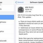 Apple iOS 11.0.3 Update Available, Fixes iPhone 7 Haptic Feedback, iPhone 6s Screen Service Issue