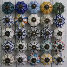 <b>1x</b> Ceramic Knobs <b>Hand Painted</b> Pumpkin <b>Kitchen</b> Cabinet Knobs ...