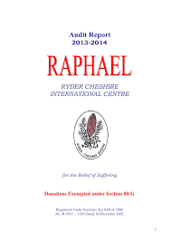 audited accounts raphael ryder cheshire international centre audit report cover page