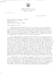 governor brendan t byrne documents first term and re election 20 1975 letter from chancellor of higher education ralph dungan to btb recommending revision of state wage policy to eliminate across the board
