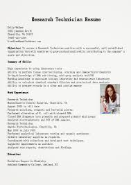 research technician resume resume samples research technician resume sample research technician resume 1508