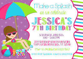 birthday pool party invitations a scart com printable pool party birthday invitations