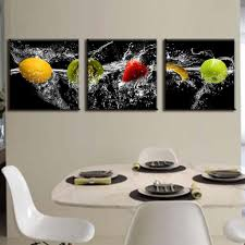 decor paintings fresh new modern  pieces painting on canvas delicious fresh fruit dining roo