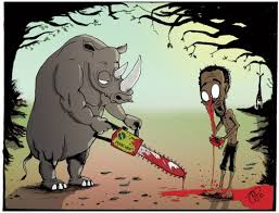 Image result for tortured rhinoceros cartoon