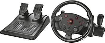 <b>Trust</b> 20293 <b>Gxt 288 Racing</b> Wheel with Pedals and Vibration ...