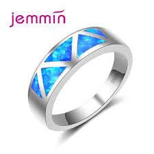 Unisex Rings For Women <b>Men Simple Geometric</b> Pattern S925 ...