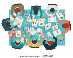 diverse businesspeople working sharing idea presenting communicating discussing at meeting table awesome office table top view shutterstock id