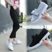 Women Designer Sneakers Women 2020 Fashion Bowknot Flat ...