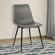 Armen Living Monte Dining Chair in Grey Faux ... - Amazon.com