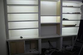 in bookcase lighting ideas