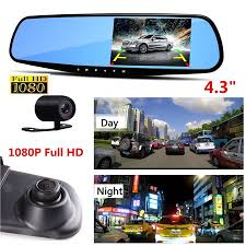 <b>4.3</b>'' 1080P <b>Car DVR</b> Mirror <b>Dash Cam</b> Recorder+Rear View ...