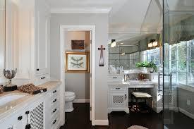 make up vanities bathroom eclectic with dark floor dressing table footed cabinets gallery wall sconce vanity bathroom makeup lighting