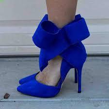Blue Heels Wedding Shoes | Wedding shoes heels, Bow pumps ...