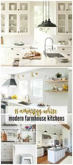 white farmhouse kitchen pinterest