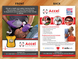 upmarket serious flyer design for accel health safety by flyer design by sarmishtha chattopadhyay for two flyers for a cpr and first aid training center