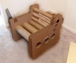 zig zag structure cardboard chair cardboard furniture